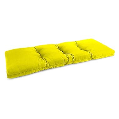Highland Dunes Tufted Outdoor Bench Cushion; Fresco Yellow