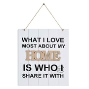 Ebern Designs What I Love Most About My Home is Who I Share It w/ Wall Decor