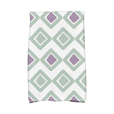 East Urban Home Diamond Kitchen Towel; Soft Green