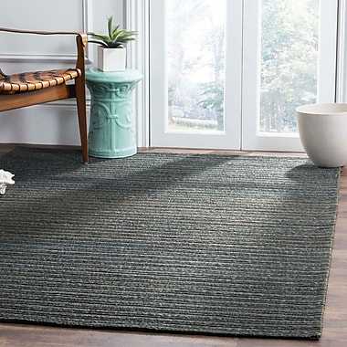 Highland Dunes Abia Hand-Woven Dark Green Area Rug; Runner 2' x 8'