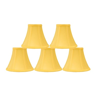 Mercer41 6'' Silk Bell Candelabra Shade (Set of 5) (Set of 5); Yellow