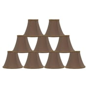 Mercer41  6'' Silk Bell Clip-on Lamp Shade (Set of 9); Taupe