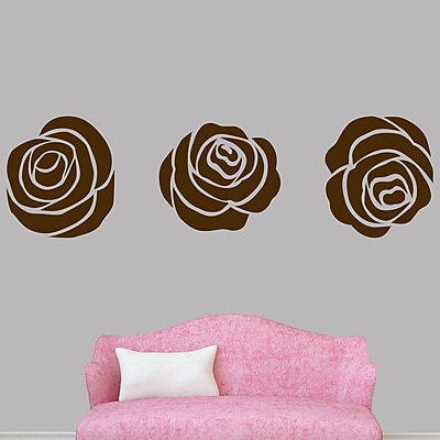 SweetumsWallDecals Set of Roses Wall Decal; Brown