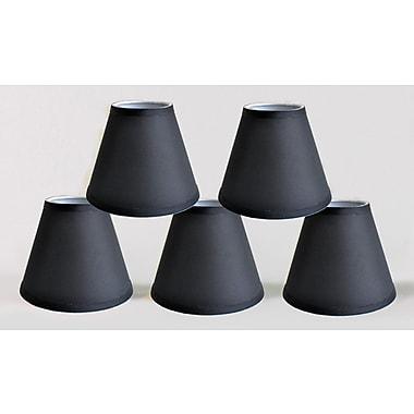 Symple Stuff 6'' Satin Empire Lamp Shade (Set of 5); Black