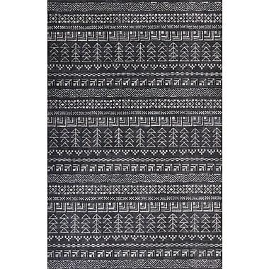Union Rustic Kaylin Charcoal Area Rug; 7'10'' x 11'2''