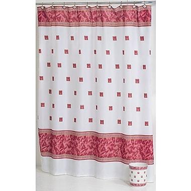 Red Barrel Studio Billings Shower Curtain; Burgundy