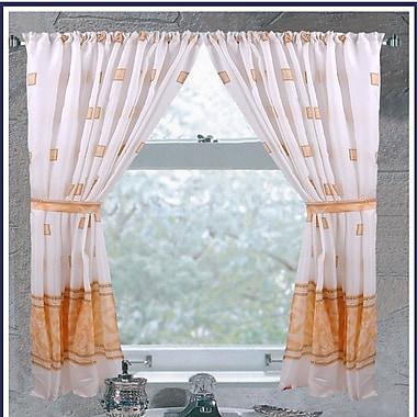 Red Barrel Studio Billings Curtain Panels (Set of 2); Ivory