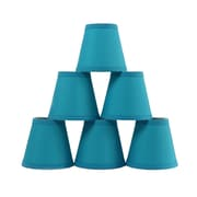 Symple Stuff 6'' Cotton Empire Lamp Shade (Set of 6); Teal