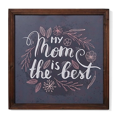 Winston Porter 'My Mom is the Best' Framed Textual Art on Wood