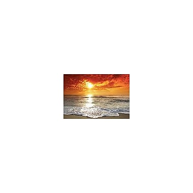 Ebern Designs 'Beautiful Sunset' Photographic Print on Wrapped Canvas