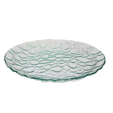 Ebern Designs Round Glass Decorative Plate