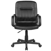 Charlton Home Swissvale Adjustable Mid-Back Executive Chair; Black