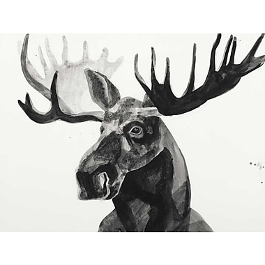 Loon Peak 'Watercolor Moose' Print on Wrapped Canvas