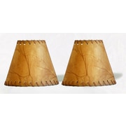 Loon Peak 6'' Faux Leather Empire Clip-on Candelabra Shade w/ Trim (Set of 2)