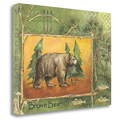 Loon Peak 'Brown Bear' Acrylic Painting Print on Wrapped Canvas; 20'' H x 26'' W