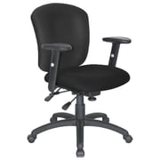 Symple Stuff Adjustable Desk Chair; Black