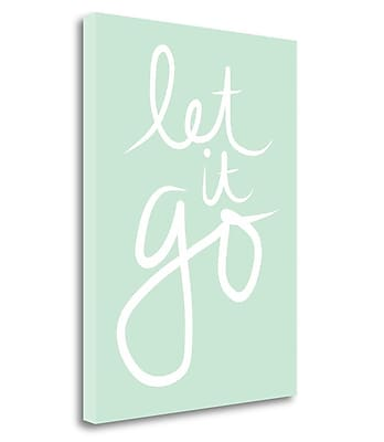 Ivy Bronx 'Let It Go' Textual Art on Wrapped Canvas; 32'' H x 24'' W