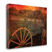 Loon Peak Arizona Wagon Train' Graphic Art Print on Wrapped Canvas; 21''H x 28'' W