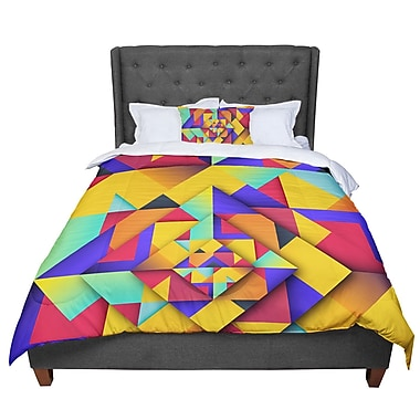 East Urban Home Danny Ivan Shapes II Geometric Comforter; King