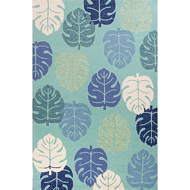 Bayou Breeze Affric Palms Hand Hooked Turquoise Indoor/Outdoor Area Rug; 3'3'' x 5'3''