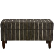 Breakwater Bay Evalyn Traditional Cotton Upholstered Storage Bedroom Bench; Peppercorn