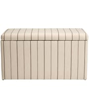 Breakwater Bay Evalyn Cotton Upholstered Storage Bedroom Bench; Fritz Charcoal