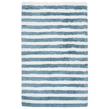 Breakwater Bay Laoise Hand-Tufted Aqua Indoor/Outdoor Area Rug; 3'6'' x 5'6''