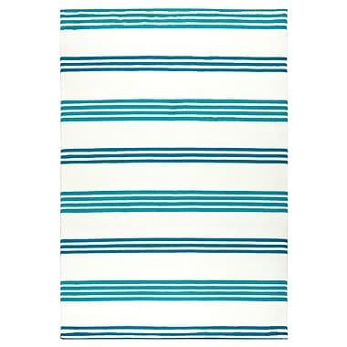 Breakwater Bay Raelyn Blue Indoor/Outdoor Area Rug; 5'3'' x 7'7''
