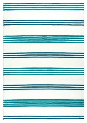 Breakwater Bay Raelyn Blue Indoor/Outdoor Area Rug; 7'10'' x 10'10''