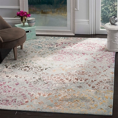 Bungalow Rose Andy Blue Area Rug; 9' x 12'