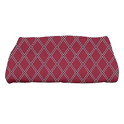 East Urban Home Diamond Dots Bath Towel; Cranberry
