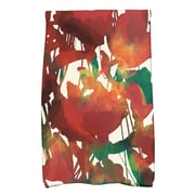 East Urban Home Watercolor Floral Hand Towel; Red