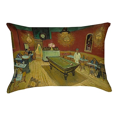 Fleur De Lis Living Burdick The Night Cafe Lumbar Pillow