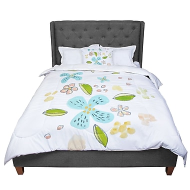 East Urban Home Jennifer Rizzo Happy Flower Dance Floral Comforter; Queen