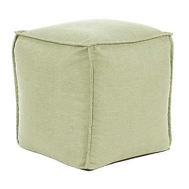 Highland Dunes Vena Square Pouf Sterling Ottoman; Willow