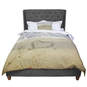 East Urban Home Debbra Obertanec Beach Heart Sand Coastal Comforter; King