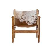 Loon Peak Curtis Cowhide Arm Chair by