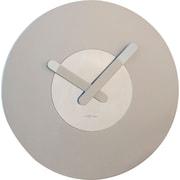 Latitude Run 15.5'' Round Wall Clock; Silver