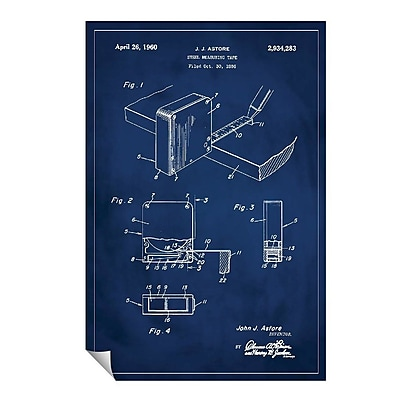 Successories 'Measuring Tape Patent' Wall Decal; 36'' H x 24'' W