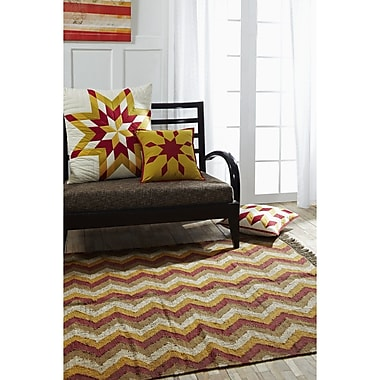 Union Rustic Lizette Red/Yellow Area Rug; 5' x 8'