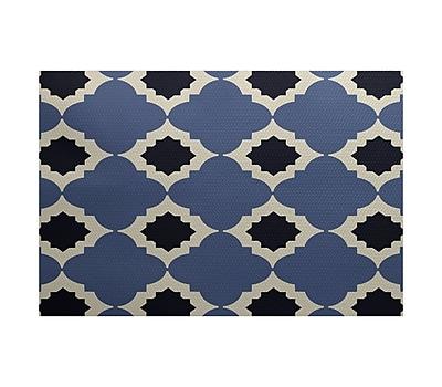Varick Gallery McGuinness Geometric Print Navy Blue Indoor/Outdoor Area Rug; 3' x 5'