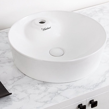 Whitehaus Collection Isabella Plus Circular Vessel Bathroom Sink