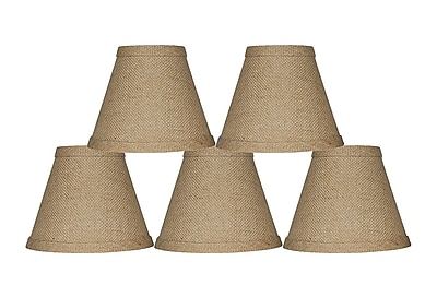 Bay Isle Home 6'' Burlap Empire Candelabra Shade (Set of 5) (Set of 5)