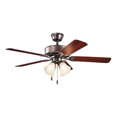 Alcott Hill 50'' Birch Creek 5-Blade Fan