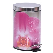 Evideco Chic and Zen Round Metal Bathroom Step Trash Can