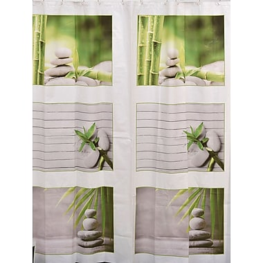 Evideco Zen and Co Bath Printed Peva Liner Shower Curtain