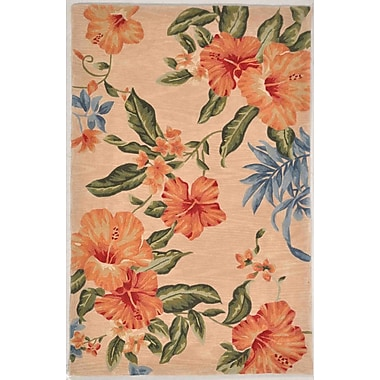 Darby Home Co Lovejoy Hand-Tufted Wool Blush Hibiscuz Area Rug