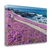 East Urban Home 'Fuschia Flowers' Acrylic Painting Print on Wrapped Canvas; 20'' H x 29'' W