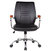 Orren Ellis Reyes Adjustable Mid-Back Executive Chair; Black