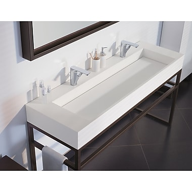 Ronbow Signature Series Marco Solid Surface Rectangular Vessel Bathroom Sink